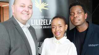 DARRYL ERASMUS of the Tourism Grading Council of South Africa, Rempo Consulting's Rebecca Kambule and chief executive of Curiosity Hostels Bheki Dube during the launch of the 2019 Lilizela Tourism Awards.     Jacques Naude  African News Agency (ANA)