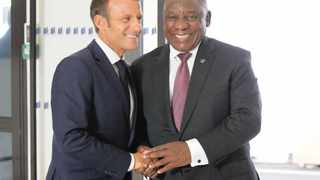 French President Emmanuel Macron and President Cyril Ramaphosa. Picture: Francois Mori/EPA-EFE/African News Agency (ANA)