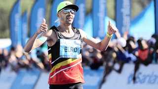 """""""I had a good race in Port Elizabeth and I was very pleased with my time. It made me believe that I can run even better in Cape Town,"""" said Elroy Gelant. Photo: Chris Ricco/BackpagePix"""