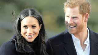 Britain's Duke and Duchess of Sussex Prince Harry and Meghan arrive at Nottingham Academy in Nottingham, England.     Frank Augstein  AP