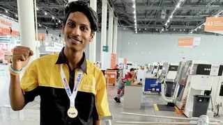 Adrian Jared Moonsamy won a gold medal at the WorldSkills Competition.    Supplied