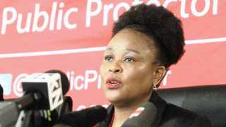 Public Protector advocate Busisiwe Mkhwebane during a media briefing at her offices earlier this year. Picture: Jacques Naude African News Agency (ANA)