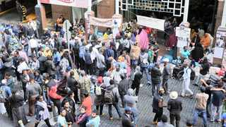 """The asylum-seekers """"sit-in"""" outside the UN High Commissioner for Refugees (UNHCR) offices at Waldorf Arcade in Cape Town is gaining momentum. Picture: David Ritchie/African News Agency (ANA)"""