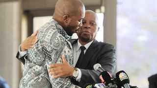 Mmusi Maimane and Herman Mashaba at a press briefing. Picture: Karen Sandison/African News Agency (ANA)