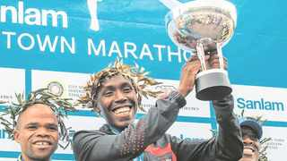 Papie Michaell Mazibuko with the trophy. Photo: Supplied