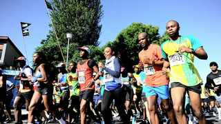 Runners tackle the gruelling Soweto Marathon in the south of Joburg yesterday. Photo: Nokuthula Mbatha/African News Agency (ANA)