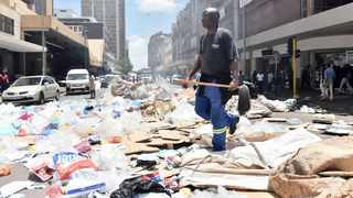 CITY of Tshwane workers demonstrate on the streets while salary adjustment talks take place.     Oupa Mokoena African News Agency (ANA)