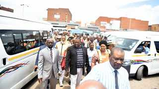 A file picture of MEC for Public Transport and Roads Infrastructure Jacob Mamabolo visiting a taxi rank. Thobile Mathonsi  African News Agency (ANA)