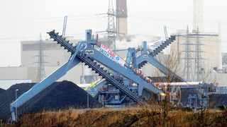 MORE THAN 100 activists occupied the site of the yet-to-be commissioned Datteln 4 coal-fired power plant in western Germany earlier this week to protest against carbon emissions from coal burning. Protesters held up banners saying 'Exit coal now' and 'Your 20-year profits instead of our future'.     Reuters