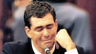 FILE - Former Proteas skipper Hansie Cronje cries while testifying at the commission of inquiry into match-fixing. Sanjeev Chawla, the alleged middleman in the scandal, is scheduled to be extradited from London before the end of the month to face charges in India 20 years after the 'leather jacket Test' in Centurion. Photo: African News Agency (ANA Archives)