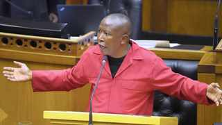 EFF leader Julius Malema. After years of bad blood, between the EFF and the Zuma faction, things are changing.     Phando Jikelo African News Agency (ANA)