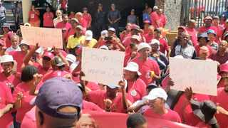 Nehawu announced it will take to the streets later this month after government declared a freeze on its employees' salaries. Picture: Soraya Crowie