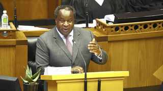 FINANCE Minister Tito Mboweni presents his Budget.     African News Agency (ANA)