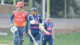 Opener Ryan Rickleton made 62 and Dom Hendricks 48, but the Lions' middle order crumbled, leaving them in a lot of trouble until the rain came to their rescue. Photo: Frikkie Kapp/BackpagePix