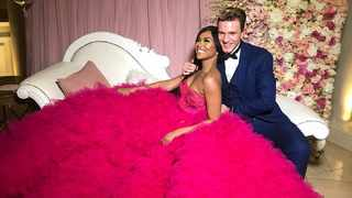 Bonang Matheba wore this pink Gert-Johan Coetzee confection at her 30th birthday party in 2017. She and the designer have been working together in creating some of her most iconic looks since his days as a designer for Diamond Face Couture. PICTURE: Bonang Matheba