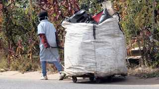 A waste picker with his goods. Picture: Jacques Naude/African News Agency (ANA)