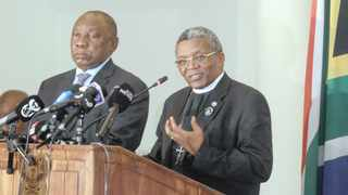 BISHOP Malusi Mpumlwana of the South African Council of Churches, pictured with President Cyril Ramaphosa during a media briefing in March.     Jacques Naude  African News Agency (ANA)