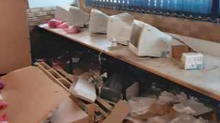 Tharabollo Secondary School in Palm Springs, south of Joburg, near Orange Farm, was vandalised during the national lockdown.     Itumeleng English African News Agency (ANA)