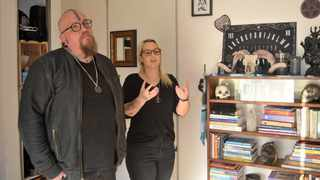 Co-founders of SA Satanic Church in Cape Town, Adri Norton and Riaan Swiegelaar. Picture: Daily Voice
