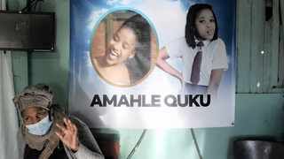 Pamela Quku at the memorial service for her niece, Amahle Quku.    Brendan Magaar African News Agency (ANA)