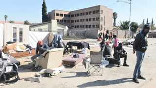 ILLEGAL occupants of a block of flats in Pretoria West have been living on the streets since they were evicted from the property last week.     Oupa Mokoena  African News Agency (ANA)
