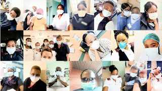 SOME of the health-care workers around the country who are risking their safety during the Covid-19 pandemic.     African News Agency (ANA) Archives