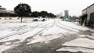 Hail, sleet and snow made conditions on the roads quite difficult in some parts of KZN at the weekend. In the Midlands, there was hail in several areas, including Merrivale, pictured, and Hilton. Picture: Chantelle Steyn/Facebook