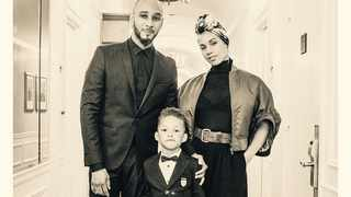 Alicia Keys with husband, Swizz Beatz and their son Egypt. Picture: Instagram