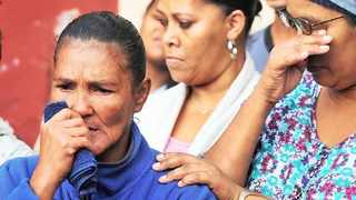 Courtney Pieters' mourning mother. Picture: Phando Jikelo/ANA Pictures