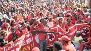 Abahlali baseMjondolo protesters marching to the Durban City Hall in this file picutre. Picture: Bongani Mbatha