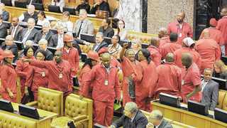 The EFF's military antics serve as an indictment of the ANC's alleged betrayal of the liberation struggle, says the writer. File picture: Jeffrey Abrahams/Independent Media Archives