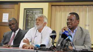 ANC veterans Sydney Mufamadi, Fazel Randera and Frank Chikane during a recent press briefing. File picture: Matthews Baloyi