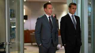 """Suits"" co-stars Patrick J. Adams and Gabriel Macht. Picture: USA/Suits"