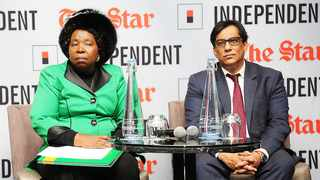 Nkosazana Dlamini Zuma and Independent Media's executive chairman, Dr Iqbal Survé, in Johannesburg at the launch of her book on her tenure at the AU Commission. Picture: Matthews Baloyi