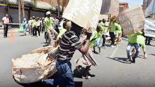 Waste pickers march to Tshwane House to hand over a memorandum of their grievances.Picture: Oupa Mokoena/ANA