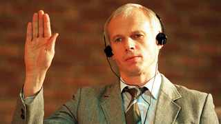 Polish immigrant and convicted killer Janusz Walus is sworn in during a Truth and Reconciliation Commission hearing in Mamelodi, Pretoria in 1997.  Picture: AP