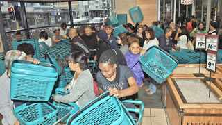 Customers filled the aisles at Checkers in Sea Point from 6am on November's Black Friday, drawn by special offers on many products during the sales period. Picture: Jason Boud/ANA