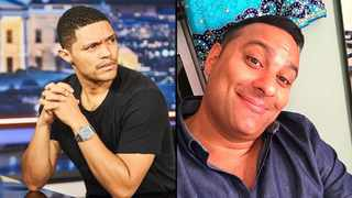 Trevor Noah and Russell Peters. Picture: Instagram