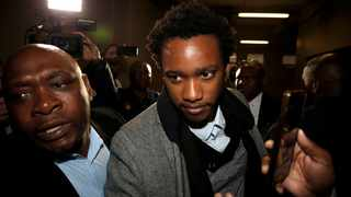 Duduzane Zuma, the son of scandal-plagued former president Jacob Zuma, arrives at the Johannesburg Specialised Commercial Crime Court on charges of corruption. Picture: Siphiwe Sibeko/Reuters