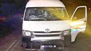 The bullet-riddled taxi in which 11 people were killed in KZN. Picture: Supplied