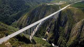 The Bloukrans bridge, the site of bungee jumping off of the bridge. Picture: Supplied