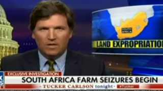 """US President Donald Trump's early morning Tweet ordering his secretary of state to look into South Africa's land seizures from """"white farmers"""" and """"large-scale farm murders"""" came after watching the popular Fox News show, Tucker Carlson Tonight show which during the segment called the South African government racist."""
