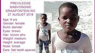 The body of missing 9-year-old Previledge Mabvongwe has been found. Picture: Supplied