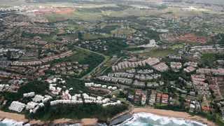 Aerial view of Thompson's Bay in Ballito on the KZN North Coast, where property prices are holding up well.