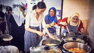 United by their passion for food and cooking as a way of strengthening communities, The Duchess of Sussex and the women of the Hubb Community Kitchen are pleased to share 'Together: Our Community Cookbook'. Picture: Kensington Palace/ Twitter