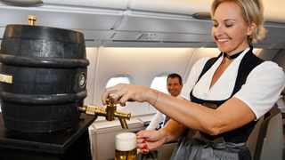 Fresh draft beer available on board again after 50 years to celebrate Oktoberfest.