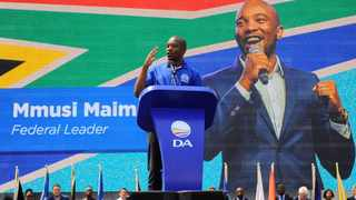 """DA leader Mmusi Maimane told several thousands of supporters dressed in the party colour blue at Mary Fitzgerald Square in Newtown, Johannesburg that the campaign """"will be our most ambitious election campaign yet""""."""