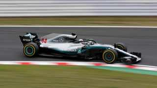 Mercedes' Lewis Hamilton dominated Friday's free-practice session. Picture: Toru Hanai / Reuters.