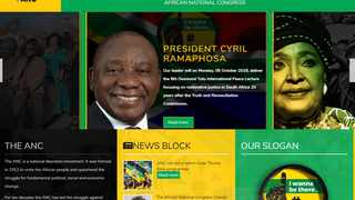 The new, sleeker ANC website was launched on Monday.