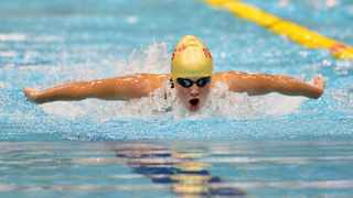 Duné Coetzee won silver in the women's 200m butterfly at the Youth Olympics on Monday. Photo: Samuel Shivambu/BackpagePix